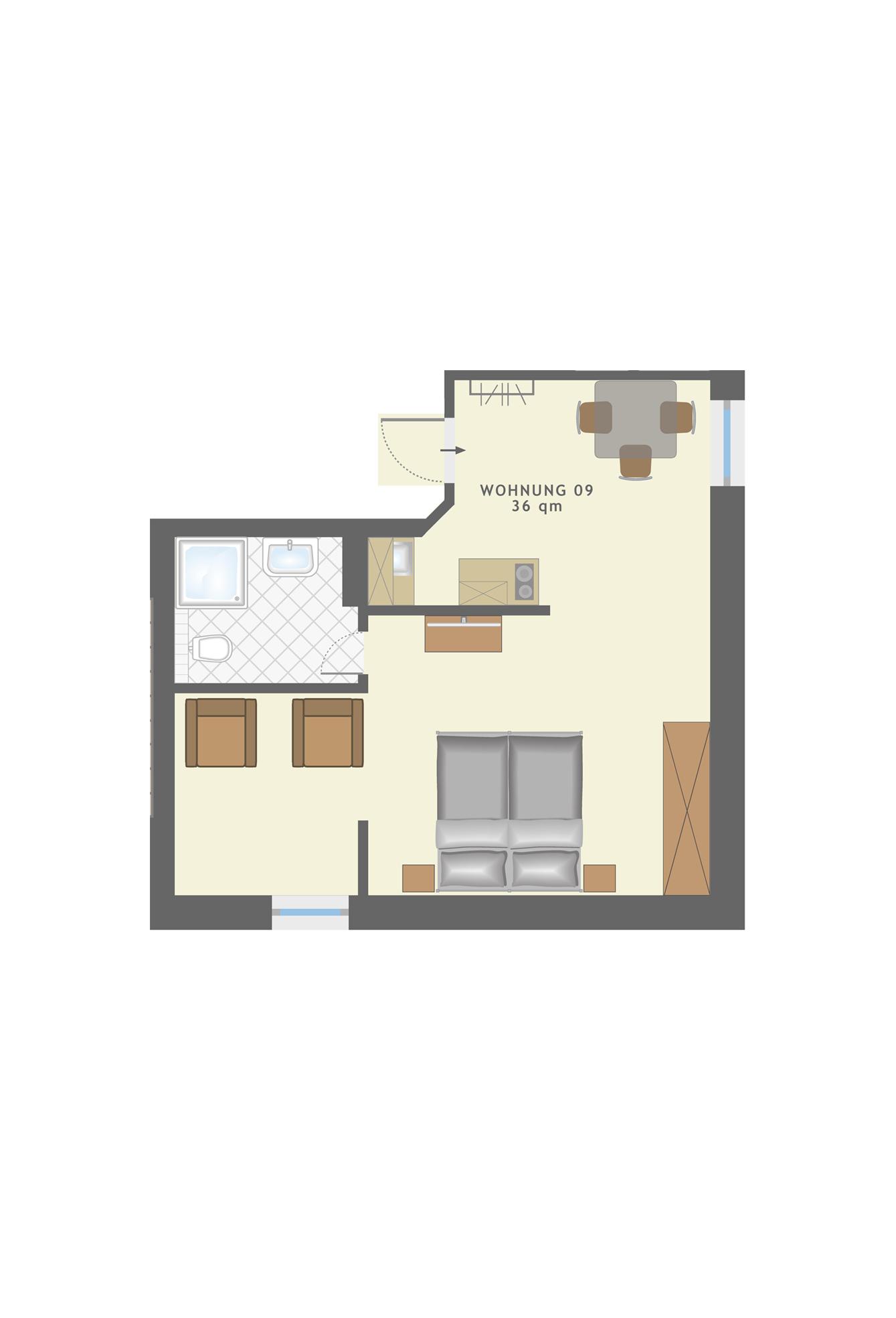 Villa Albertine - App.09, Ahlbeck (Seebad) - UsedomTravel